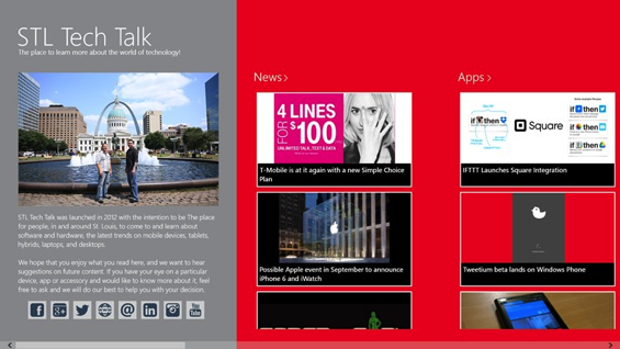 STL Tech Talk Windows 8 Store App